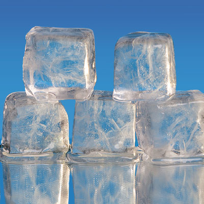 solid ice cubes